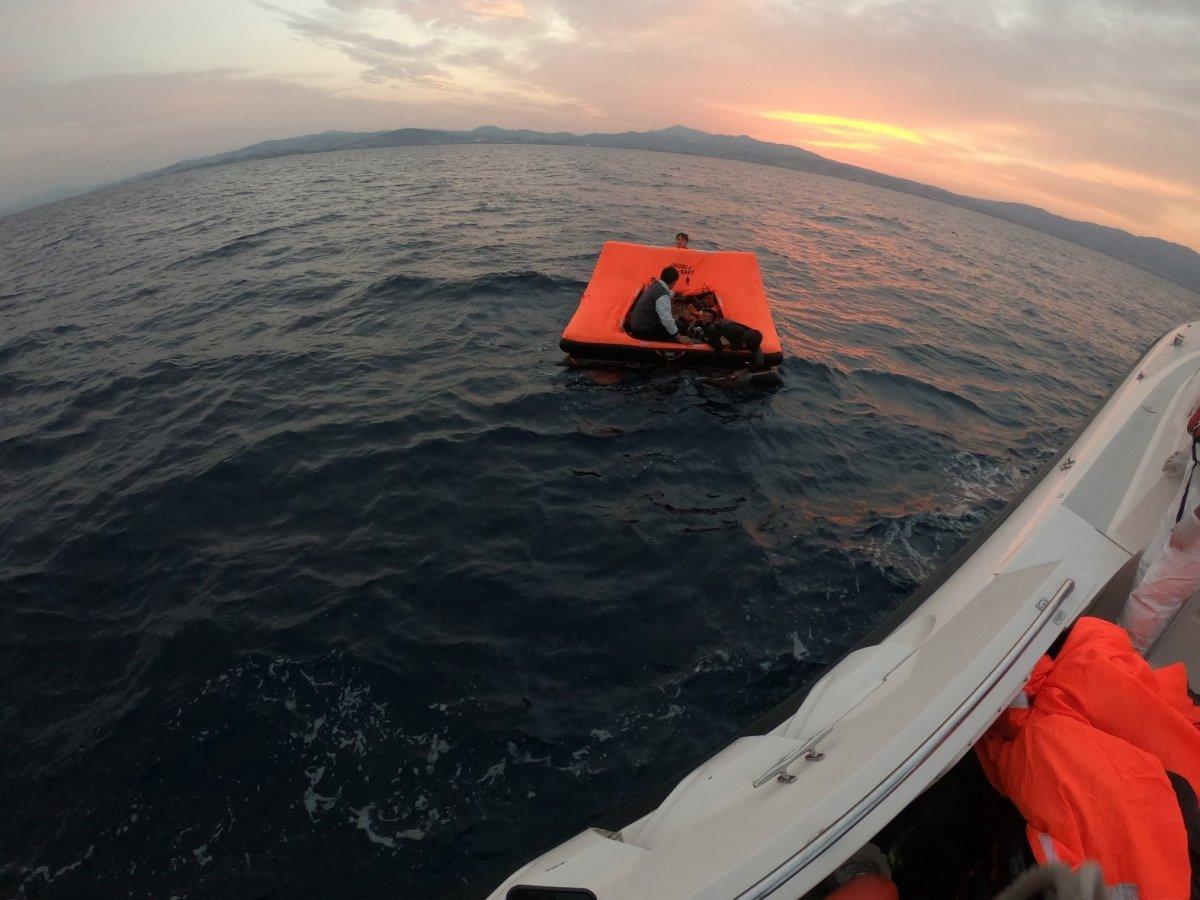Aydın da Yunanların ölüme terk ettiği 60 göçmen kurtarıldı #3