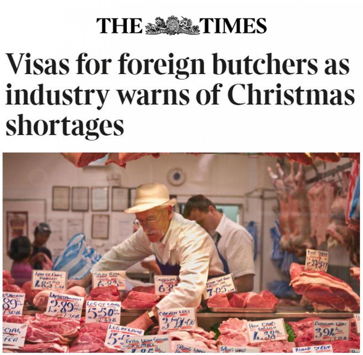 İngiltere de Noel öncesi kasap sıkıntısı yaşanıyor #1