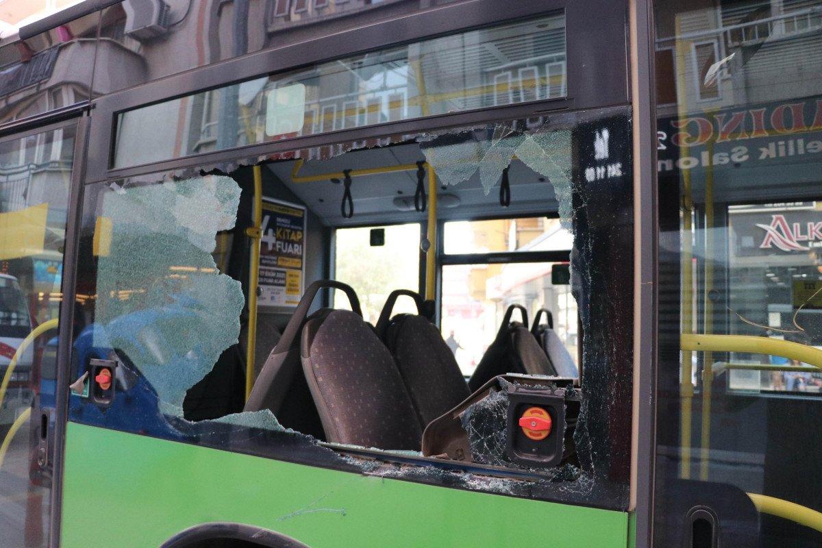Denizli de yük asansörünün sepeti belediye otobüsüne çarptı  #6