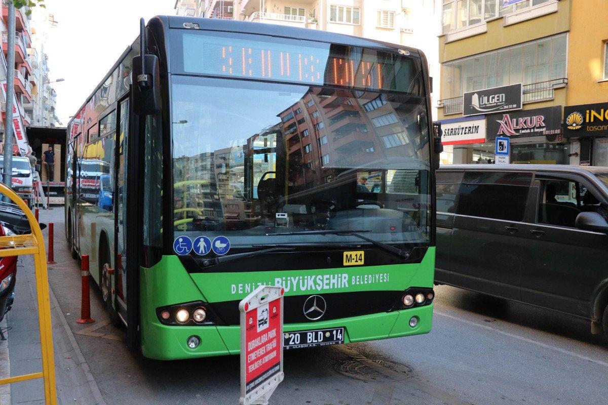 Denizli de yük asansörünün sepeti belediye otobüsüne çarptı  #7