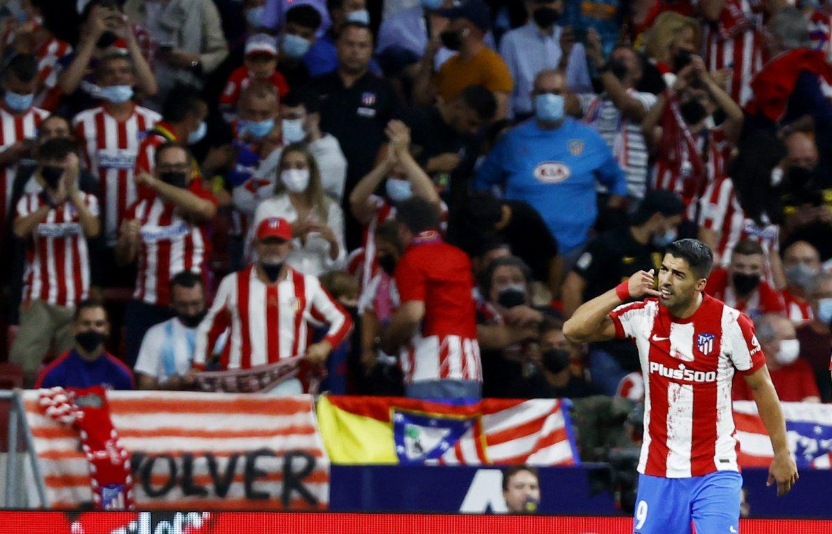 Atletico Madridli Suarez, eski takımı Barcelona ya ilk golünü attı #9