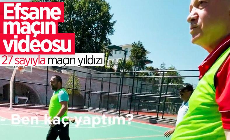 Cumhurbaşkanı Erdoğan, basketbol oynadığı görüntüleri paylaştı