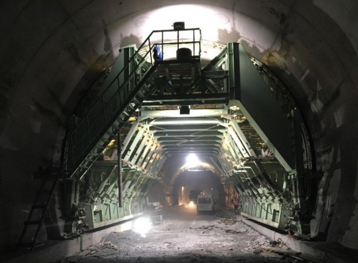 Yeni Zigana Tüneli'nde kazı işlemlerinin yüzde 94'ü tamamlandı #1