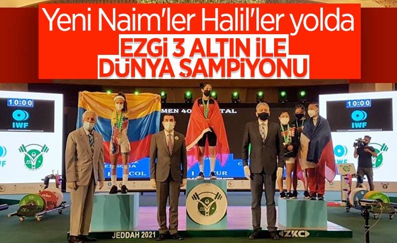 Milli halterci Ezgi Kılıç, dünya şampiyonu oldu