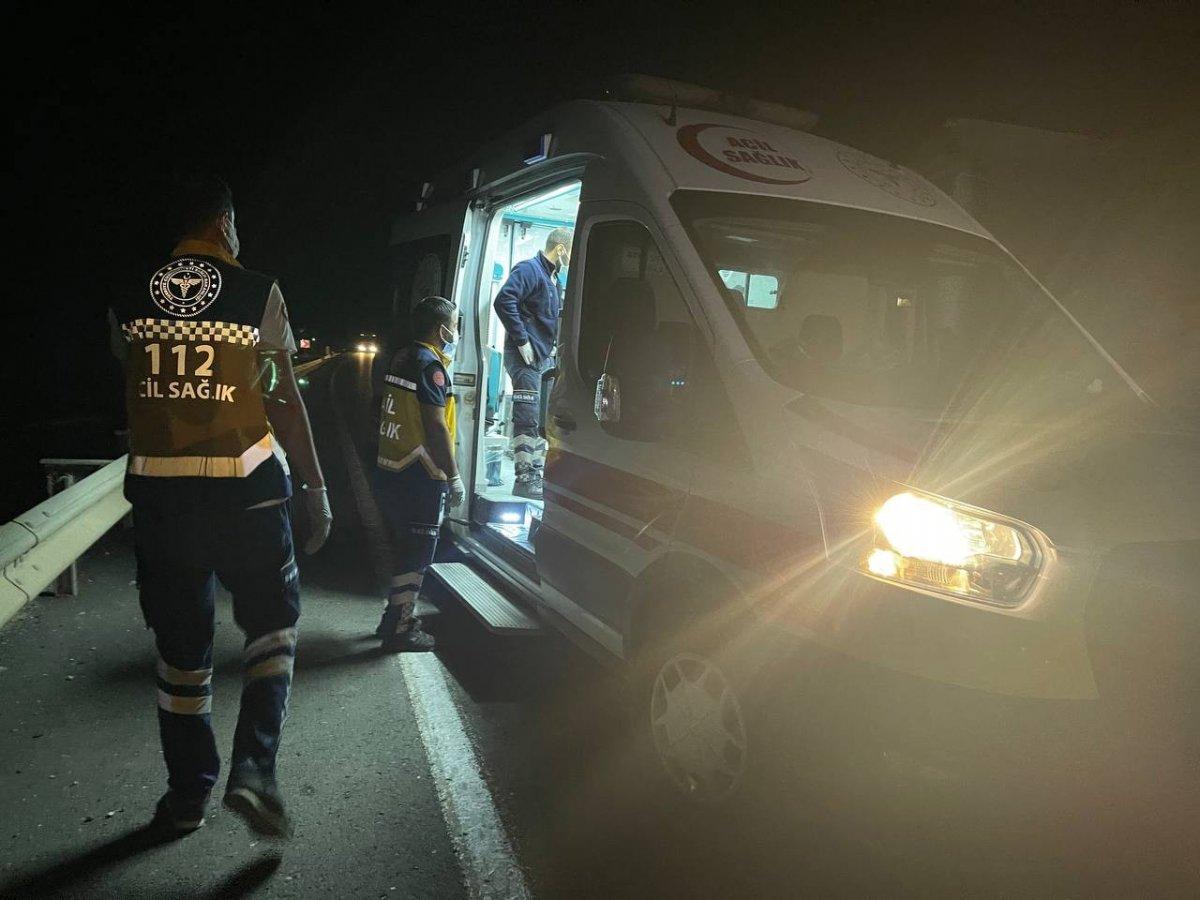 Şanlıurfa da alkollü polis kaza yapıp meslektaşlarına zor anlar yaşattı #1