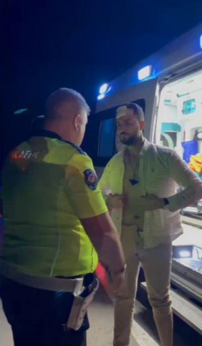 Şanlıurfa da alkollü polis kaza yapıp meslektaşlarına zor anlar yaşattı #3