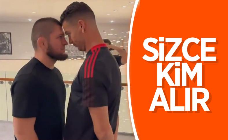 Khabib ile Ronaldo'nun eğlenceli anları