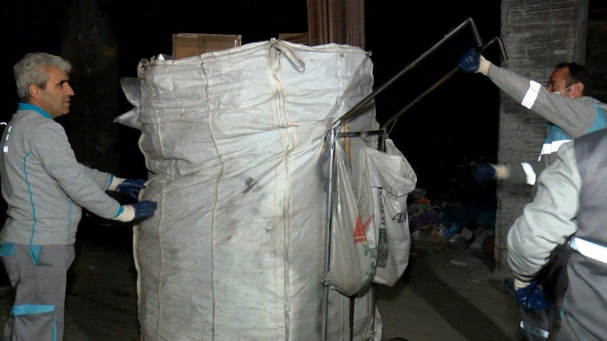 İstanbul da kaçak kağıt toplayıcılarına operasyon #1
