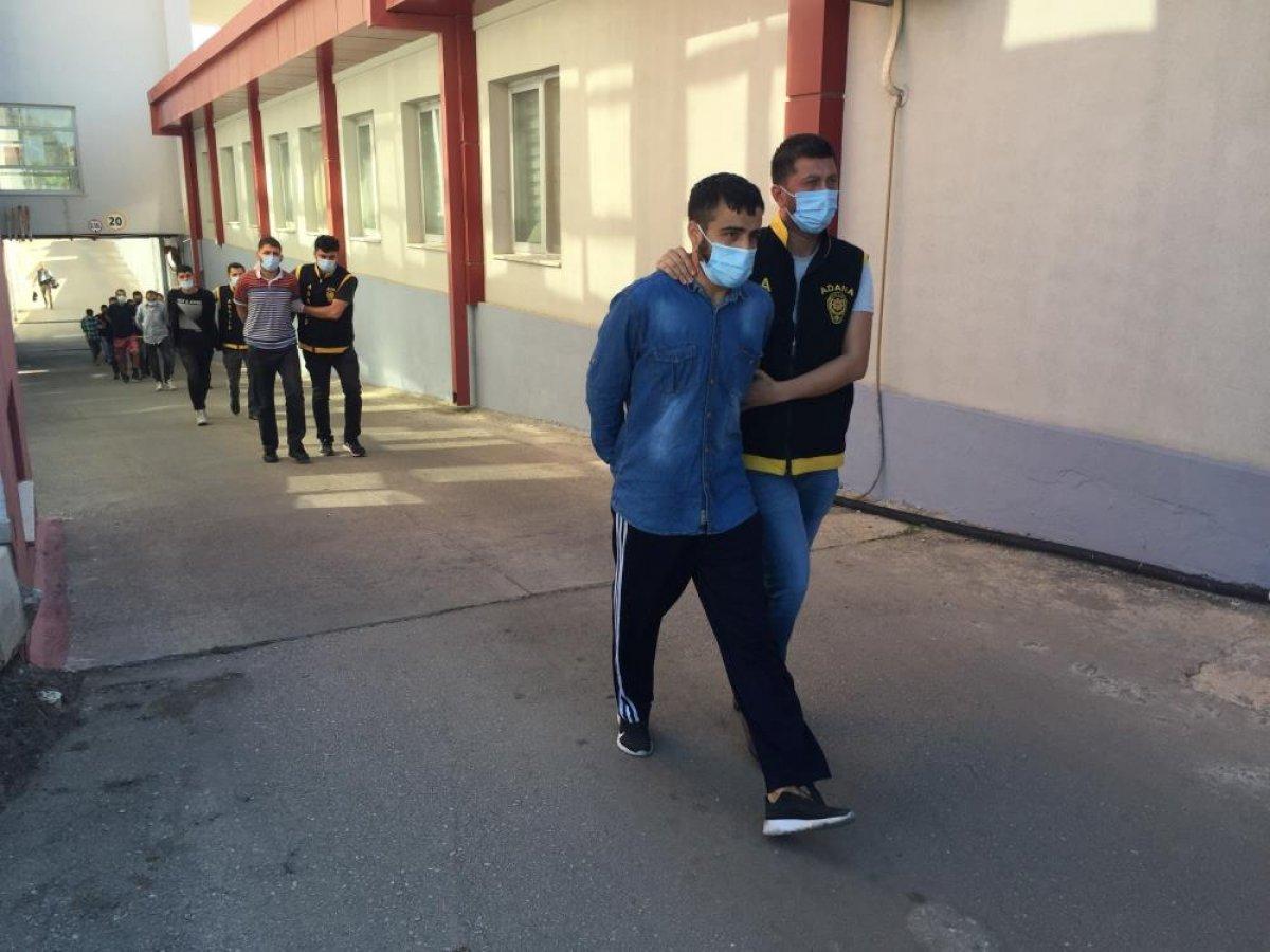 Adana da düzenlenen şafak operasyonunda 50 şüpheli yakalandı  #6