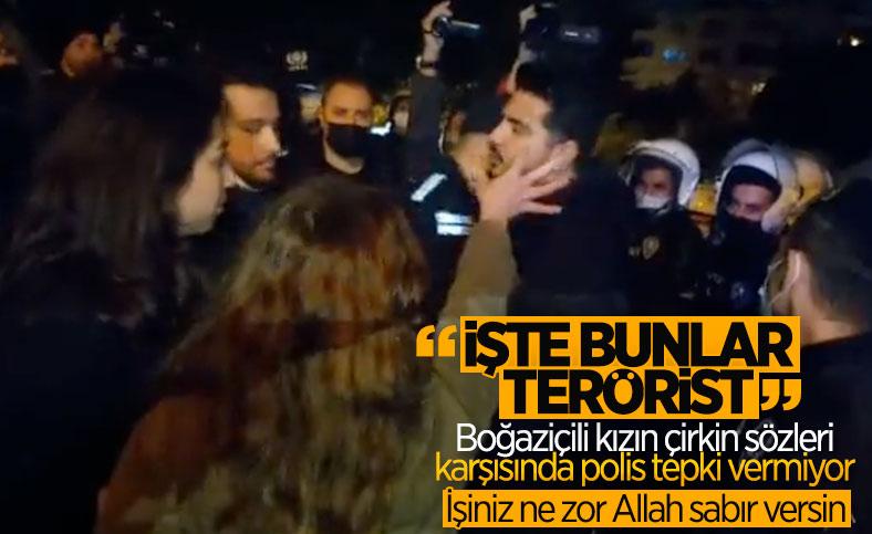 Boğaziçi eylemcisinden polislere: İşte teröristler bunlar