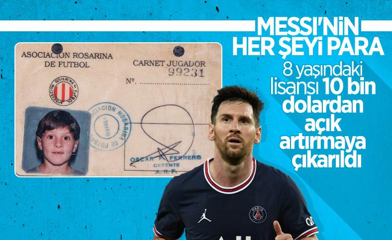 Lionel Messi'nin çocukluk lisansı açık artırmada