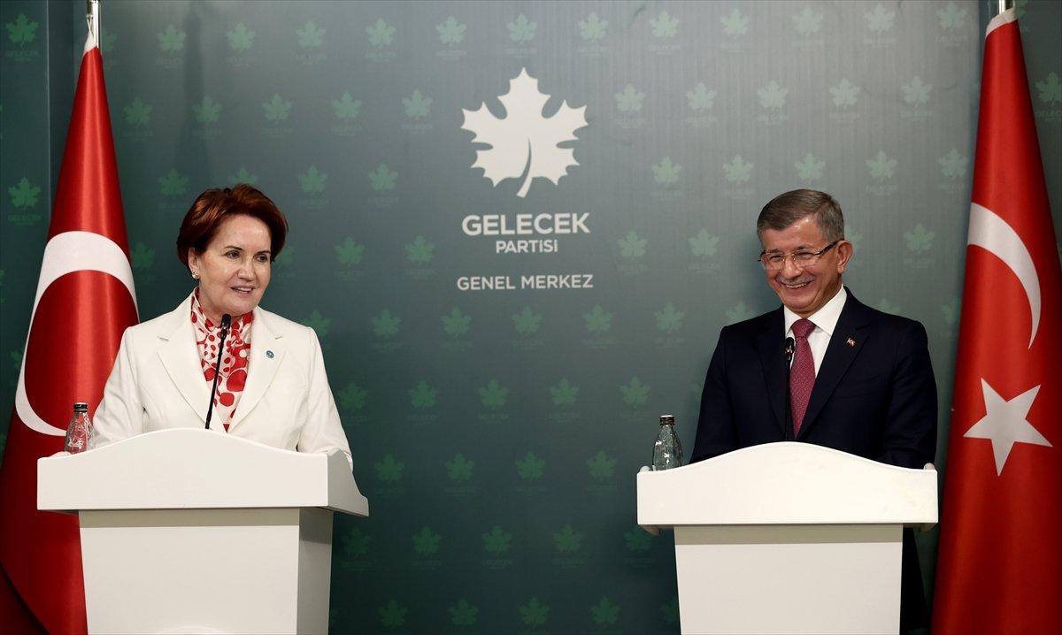 Meral Akşener den Ahmet Davutoğlu na ziyaret #1