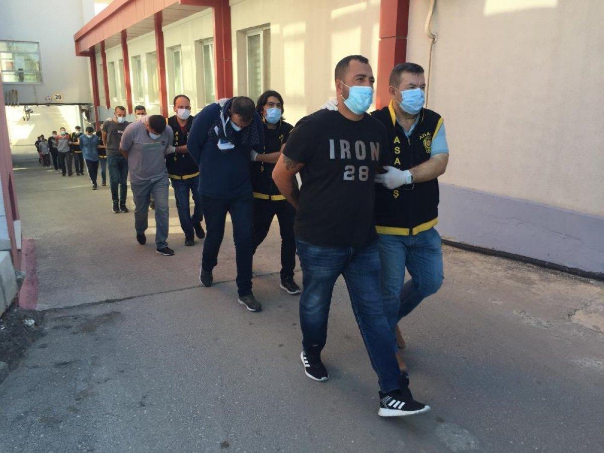 Adana da düzenlenen şafak operasyonunda 50 şüpheli yakalandı  #4