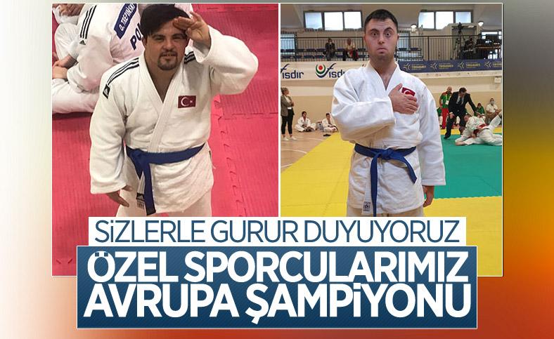 Özel sporcular Talha Ahmet Erdem ve Doğukan Coşar Avrupa Şampiyonu