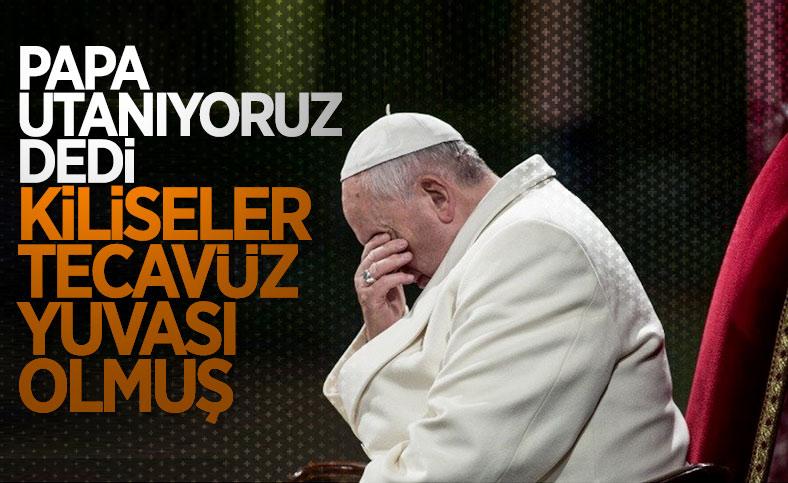 Papa Francis: Kiliselerdeki cinsel istismar mağdurlarına utancımı sunuyorum