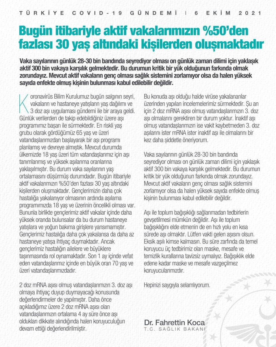 Fahrettin Koca: Vakalarımızın yüzde 50 den fazlası 30 yaş altındaki kişiler #1