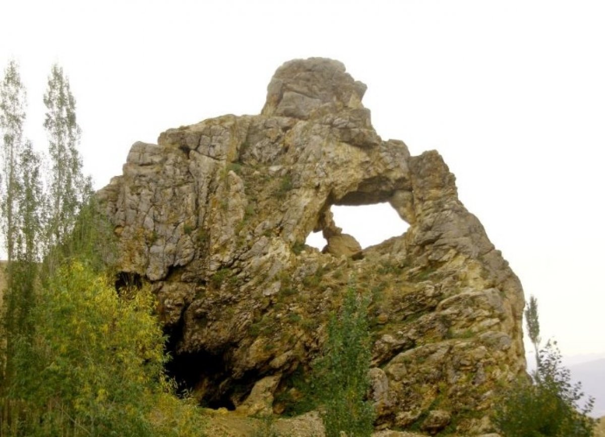 Hakkari Yüksekova da düşünen maymun figürlü kayalık görüntülendi #4