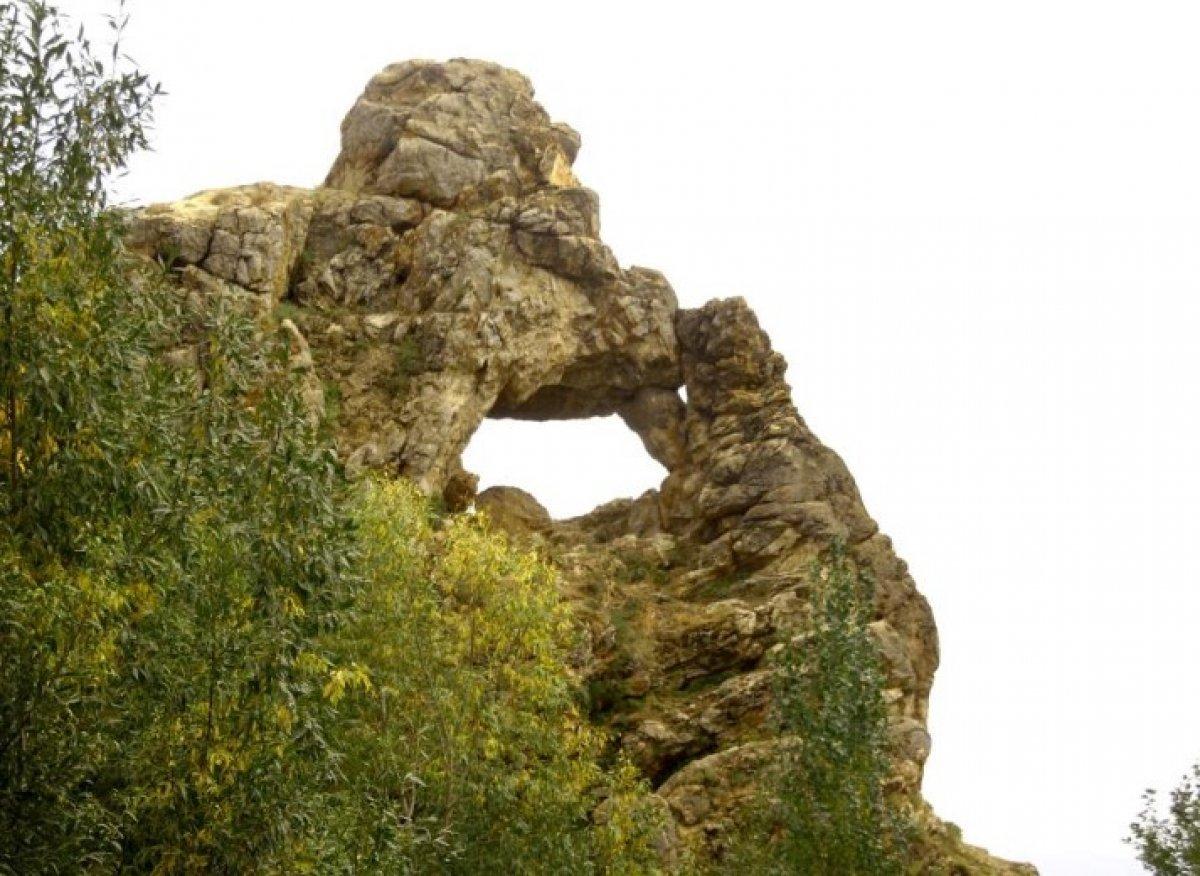 Hakkari Yüksekova da düşünen maymun figürlü kayalık görüntülendi #1