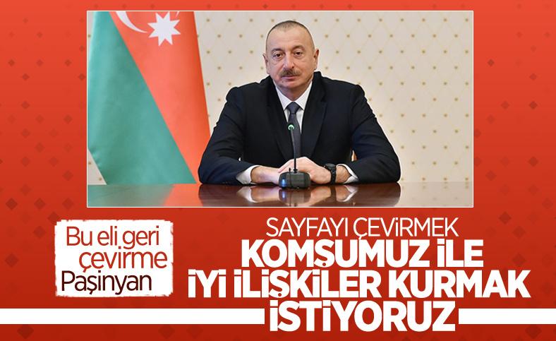 İlham Aliyev: Ermenistan'la ilişkiler kurmak istiyoruz
