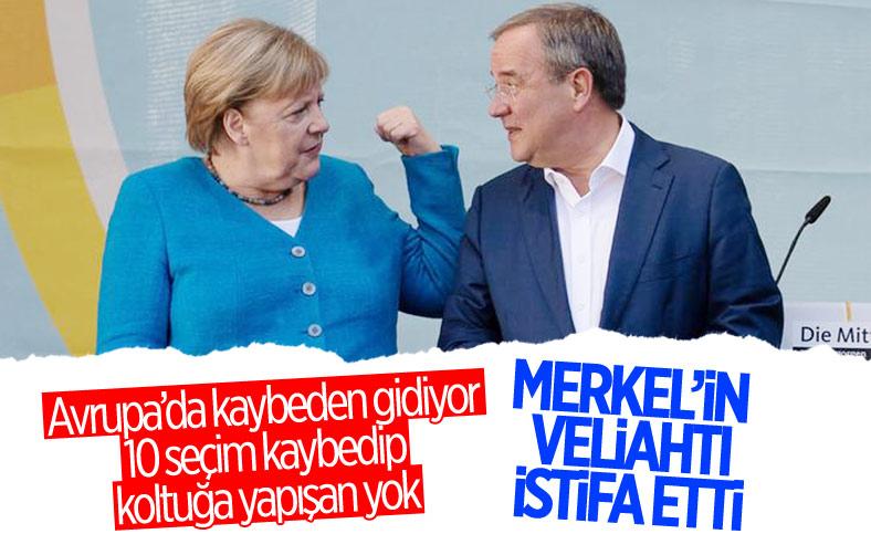 Almanya'da seçimi kaybeden Armin Laschet istifa etti