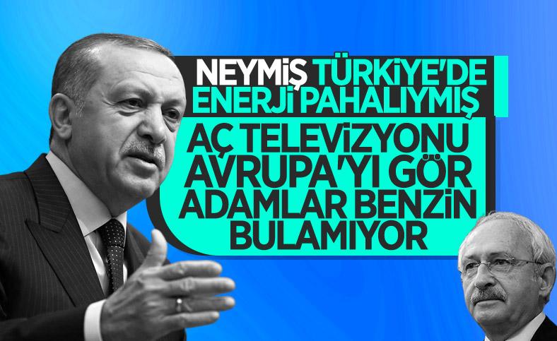 Cumhurbaşkanı Erdoğan'dan Kılıçdaroğlu'na enerji yanıtı