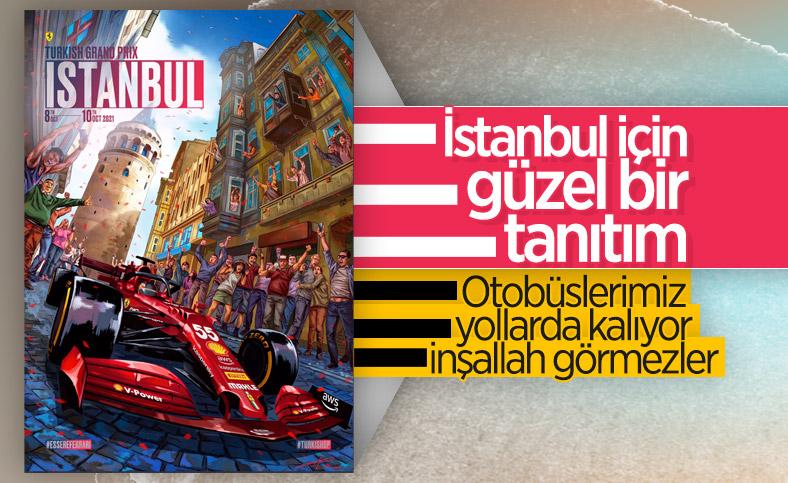 F1 takımlarından Türkiye Grand Prix'sine özel posterler