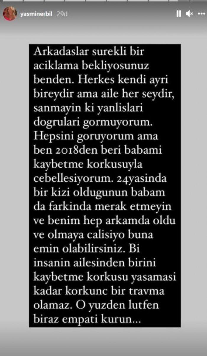 Mehmet Ali Erbil in kızı Yasmin Erbil sitem etti #1