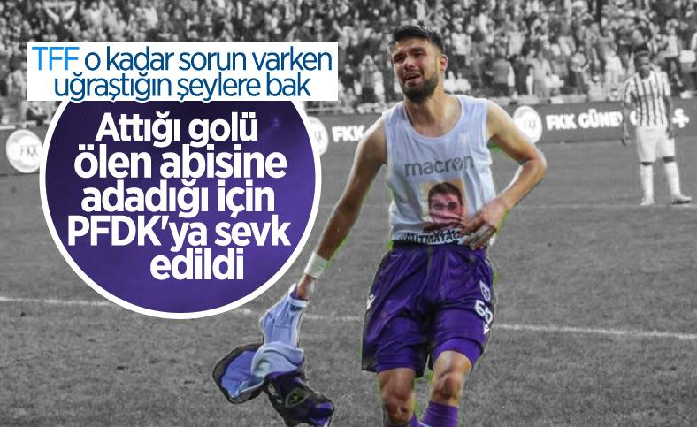 Golü ağabeyine adayan Hasan Kılıç, PFDK'ya sevk edildi