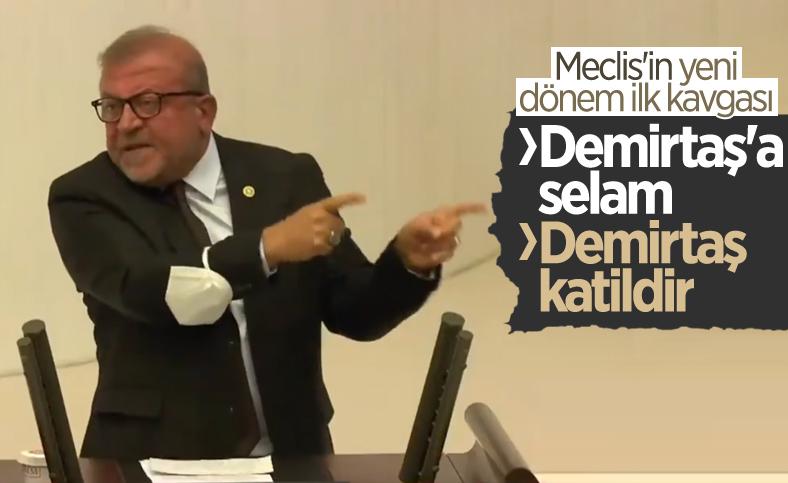 Meclis'te Selahattin Demirtaş katildir kavgası
