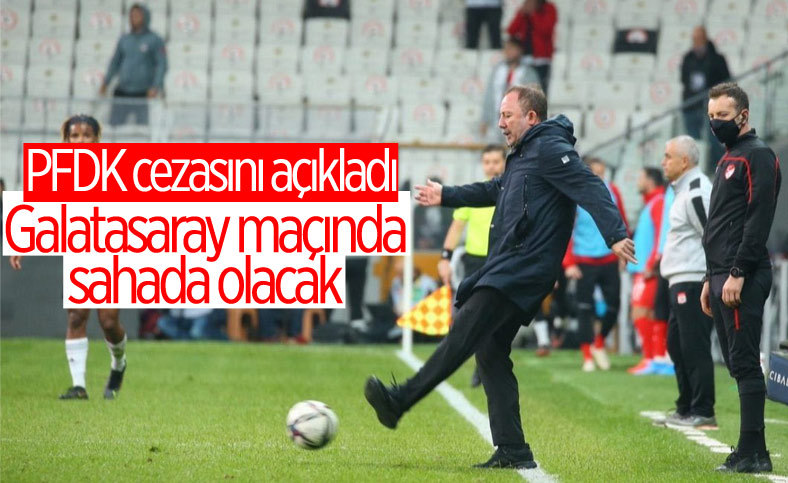 PFDK'dan Sergen Yalçın'a 1 maç ceza
