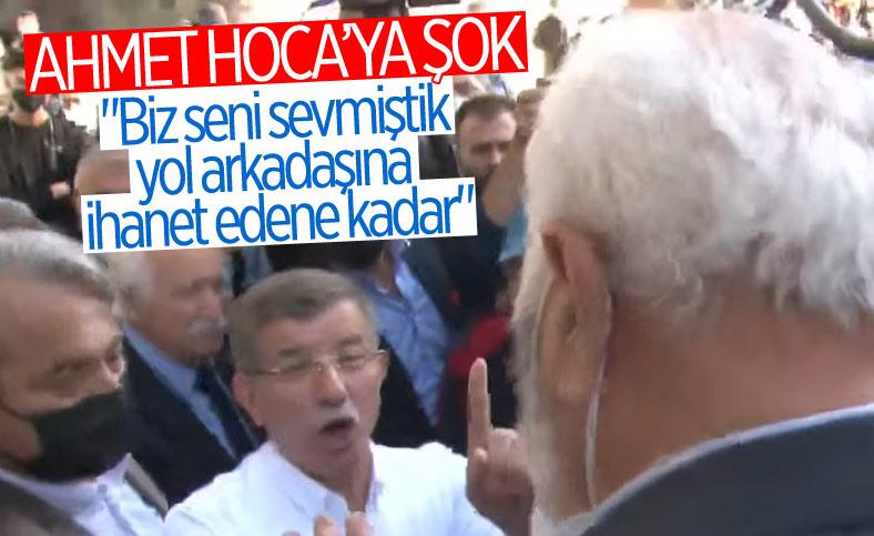 Ahmet Davutoğlu'na Kayseri'de 'ihanet' tepkisi