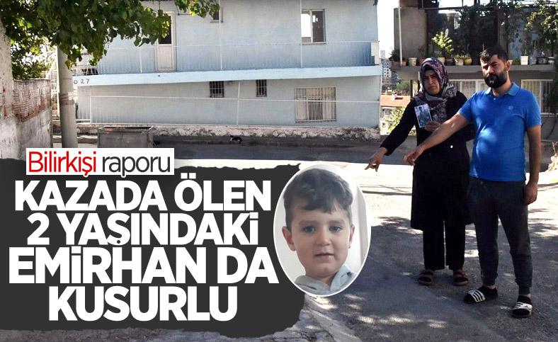 İzmir'de ehliyetsiz sürücünün çarptığı 2 yaşındaki Emirhan kusurlu bulundu