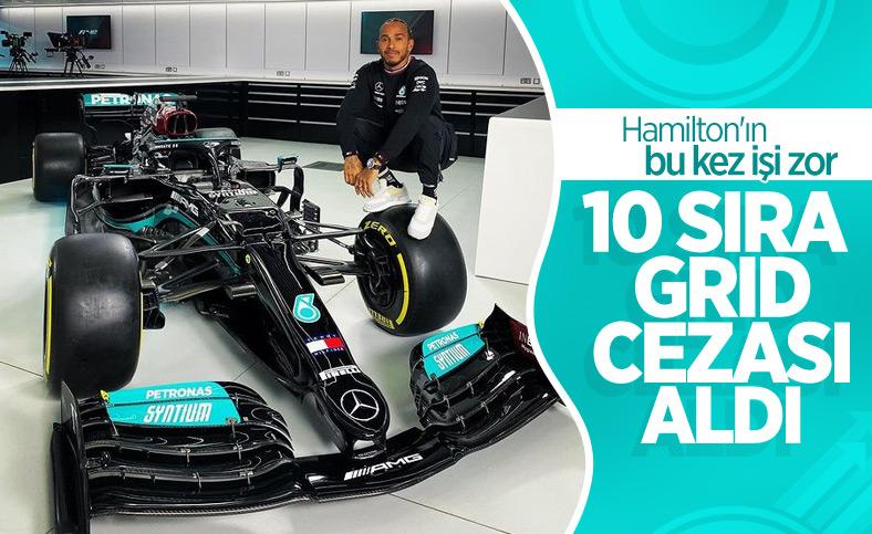 Lewis Hamilton, 10 sıra grid cezası aldı