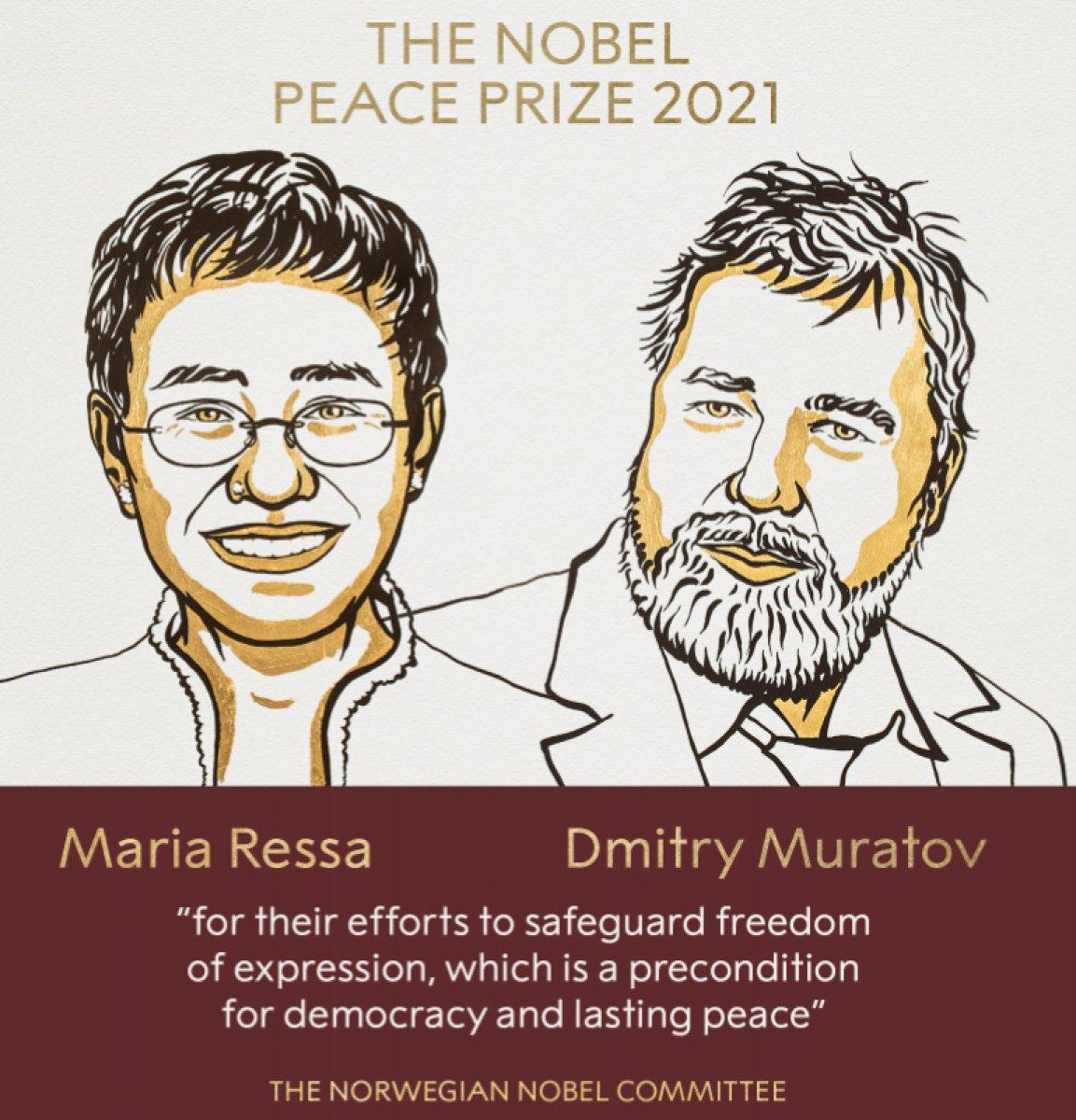 2021 Nobel Barış Ödülü sahiplerini buldu #1