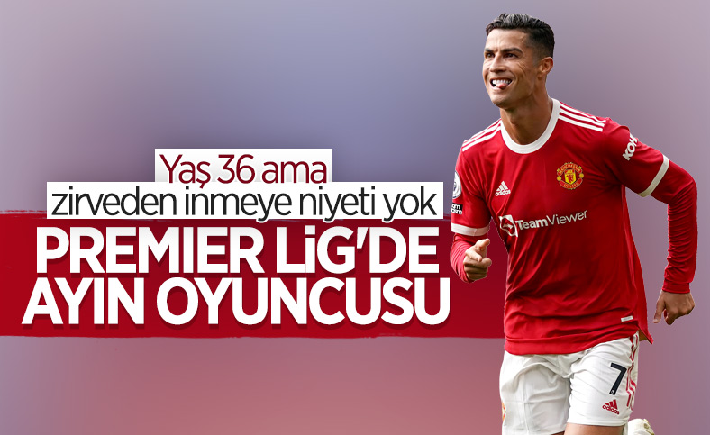 Cristiano Ronaldo ayın futbolcusu seçildi