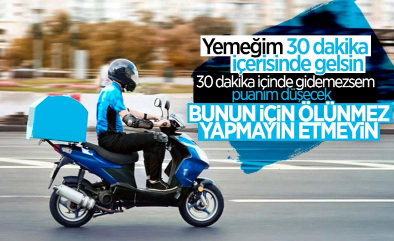 İstanbul Adliyesi önünde motokurye eylemi: Hız puanlaması kaldırılsın