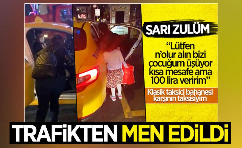 Ataşehir'de yolcu almayan taksici trafikten men edildi