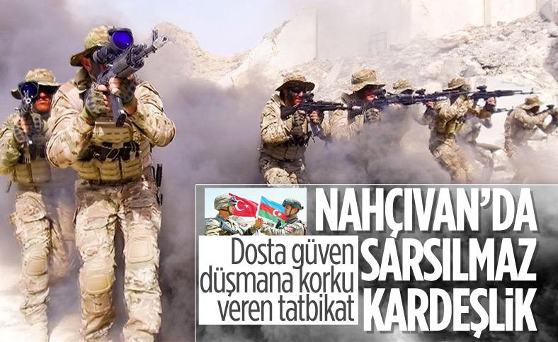 Azerbaycan ile Türkiye'den Nahçıvan'da Sarsılmaz Kardeşlik 2021 tatbikatı