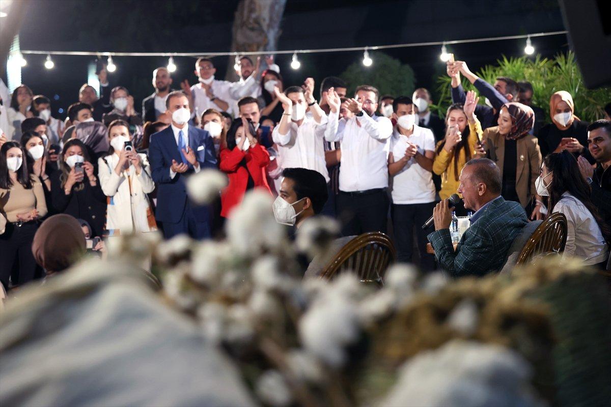 Cumhurbaşkanı Erdoğan, Adana da gençlerle buluştu #9