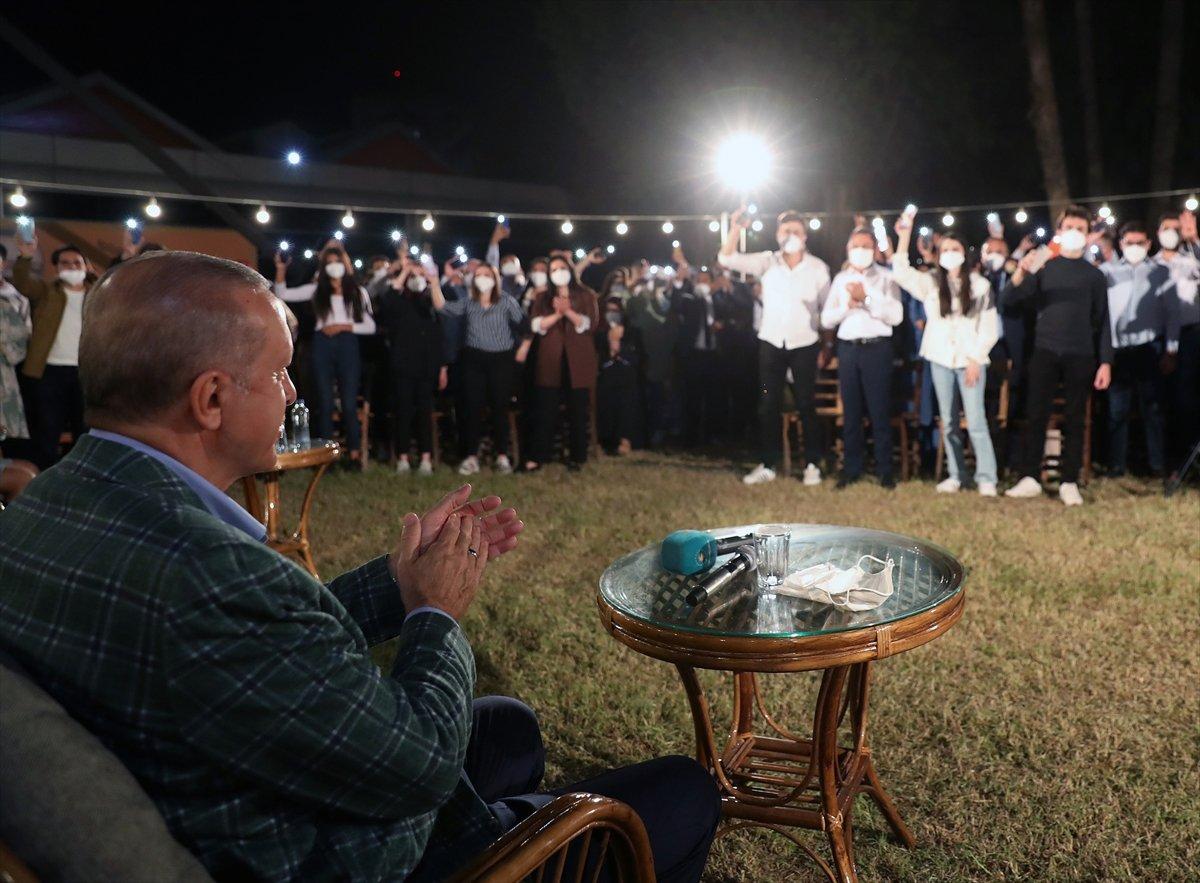 Cumhurbaşkanı Erdoğan, Adana da gençlerle buluştu #5