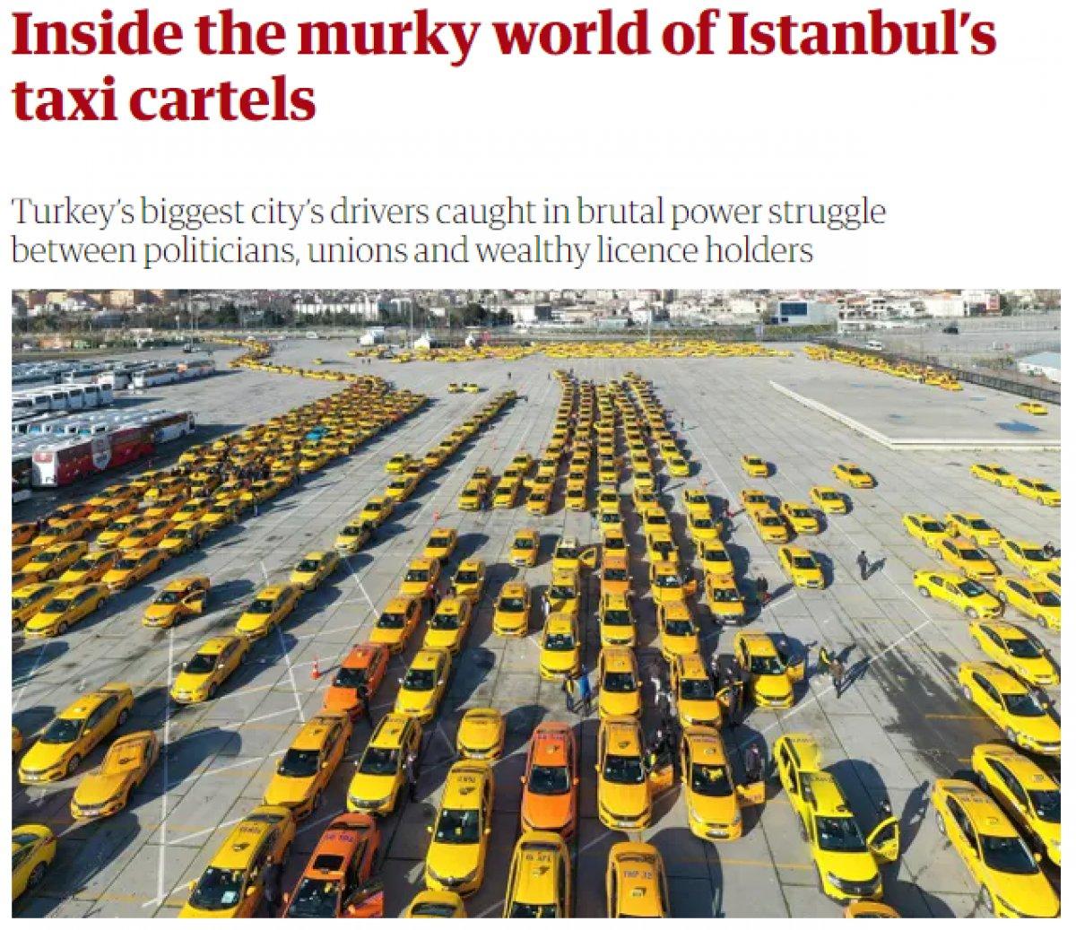İstanbul daki taksi sorunu İngiliz medyasında #1