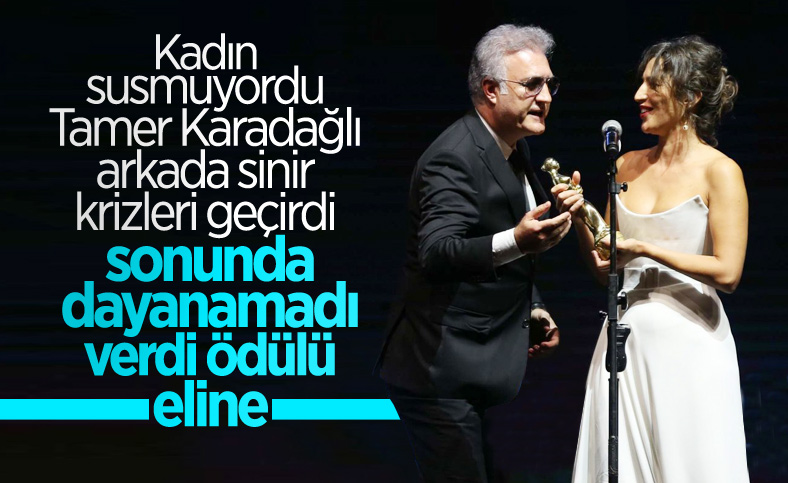 Tamer Karadağlı ve Nihal Yalçın'ın 'ödül' gerginliği