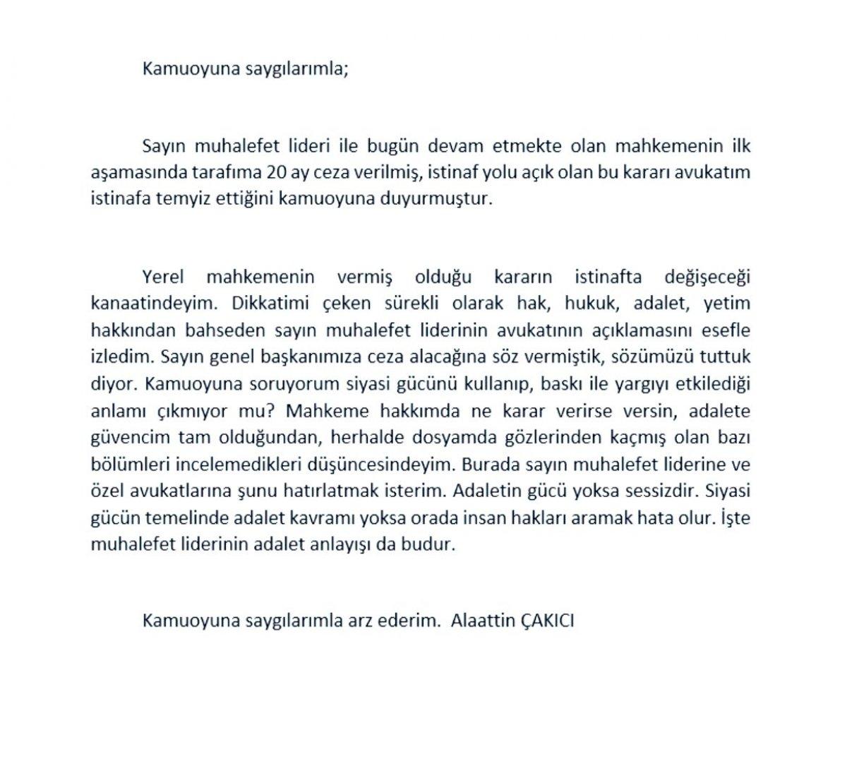 Alaattin Çakıcı ya Kemal Kılıçdaroğlu na hakaretten hapis cezası #2