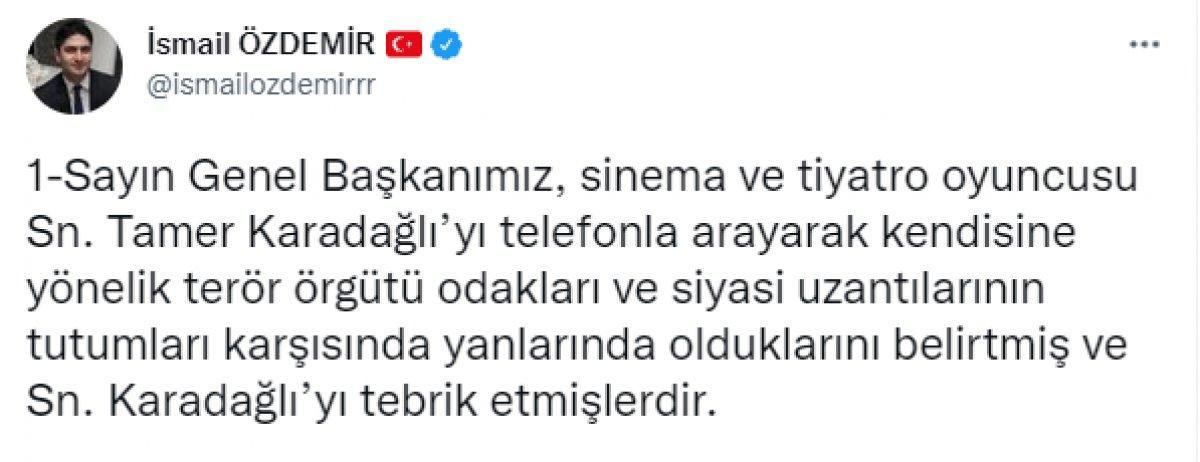 Devlet Bahçeli, Tamer Karadağlı yı aradı #1