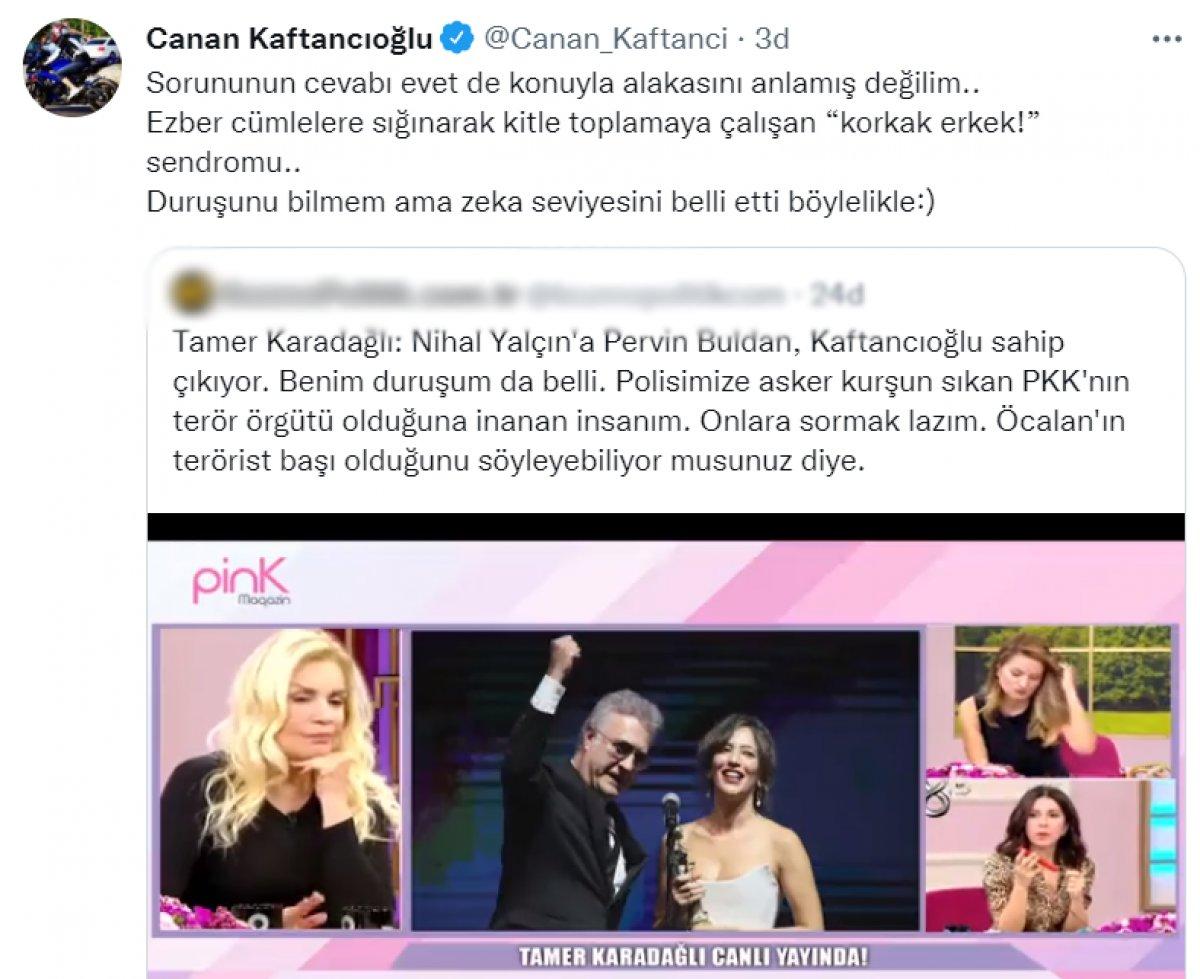 Canan Kaftancıoğlu ndan Tamer Karadağlı ya: Korkak erkek #1