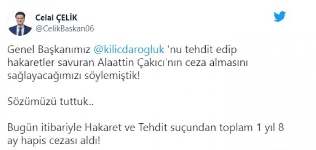 Alaattin Çakıcı ya Kemal Kılıçdaroğlu na hakaretten hapis cezası #1