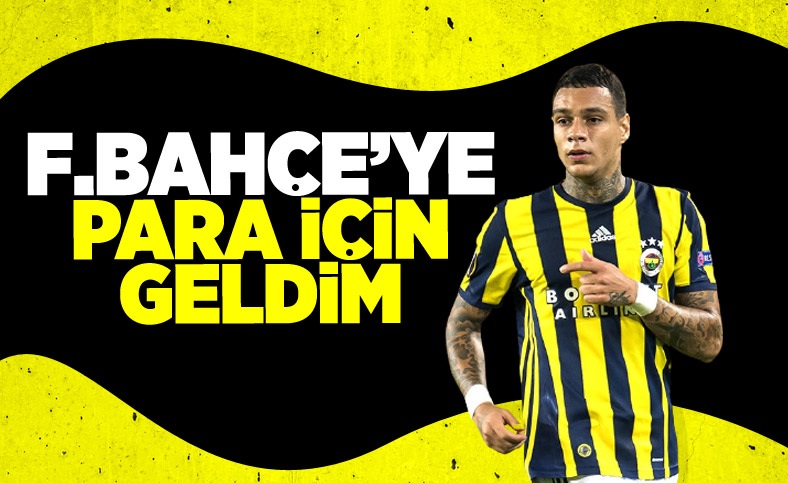 Van der Wiel: Fenerbahçe'ye para için geldim