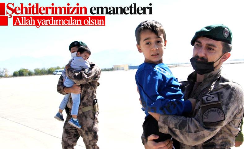 Fırat Kalkanı bölgesinde şehit düşen iki polis için tören düzenlendi