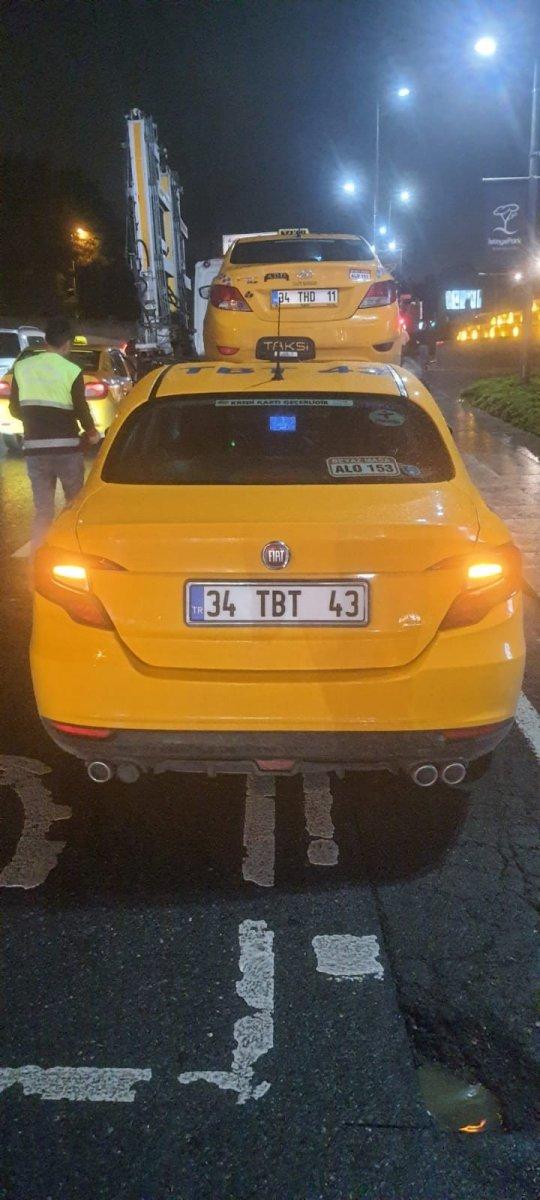 İstanbul da müşteri kabul etmeyen taksicilere ceza kesildi #3