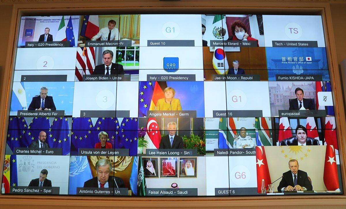 Cumhurbaşkanı Erdoğan, G20 Zirvesi nde katılımcılara hitap etti #1